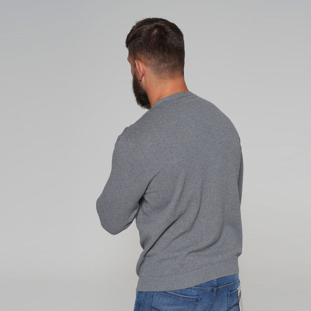 North 56 - Sustainable Crew Neck Knitted Jumper in Grey - back view