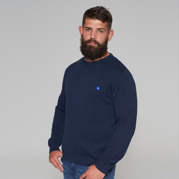 North 56 - Sustainable Crew Neck Knitted Jumper in Navy - side view