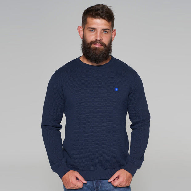 North 56 - Sustainable Crew Neck Knitted Jumper in Navy look view