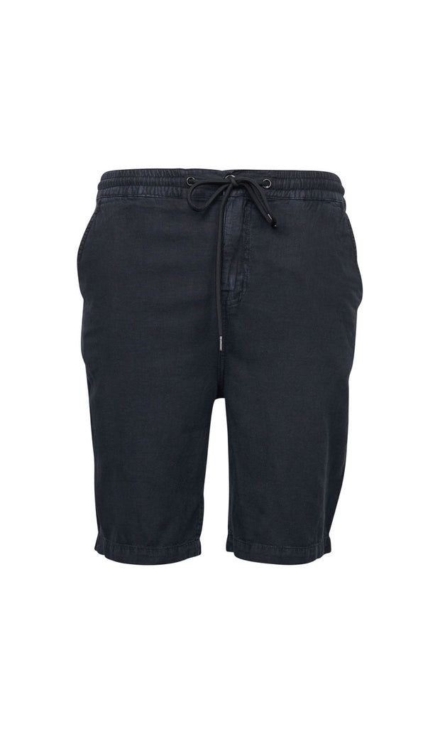 North 56°4 Shoreline shorts in black - elastic waist - front view