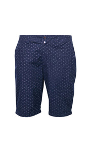 North 56°4 South beach patterned chino shorts - navy blue front view