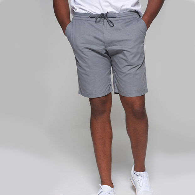 Redpoint - Elastic Waist Short in Grey - back view