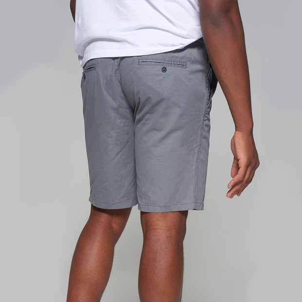 Redpoint - Elastic Waist Short in Grey - front view
