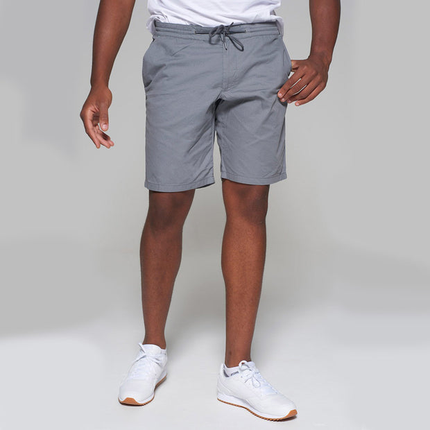 Redpoint - Elastic Waist Short in Grey - front view closer up