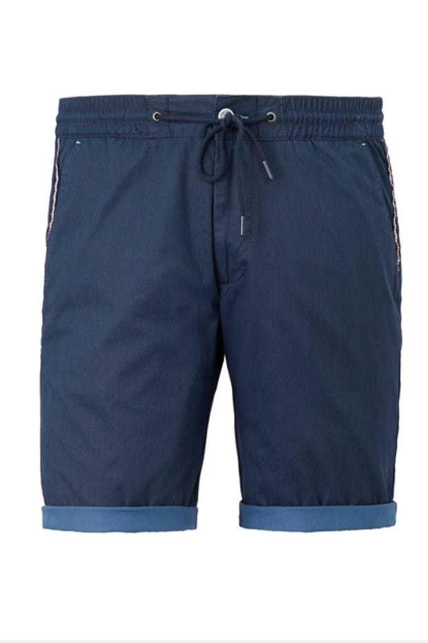 Redpoint - Whitby Elastic Waist Short in Navy - front view product shot