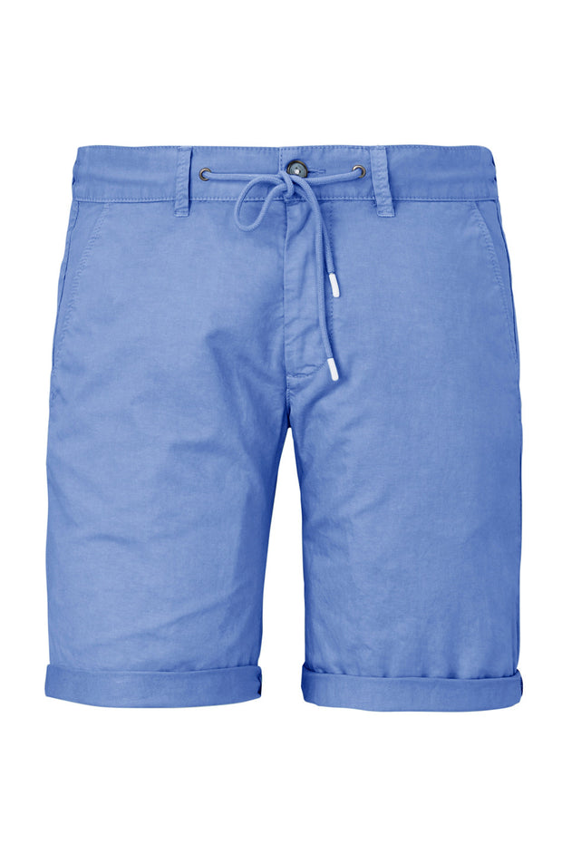 Redpoint - Whitby Elastic Waist Short in Blue - front view product shot