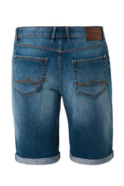 Redpoint Dark Blue Denim Sherbrook Shorts - back view product shot