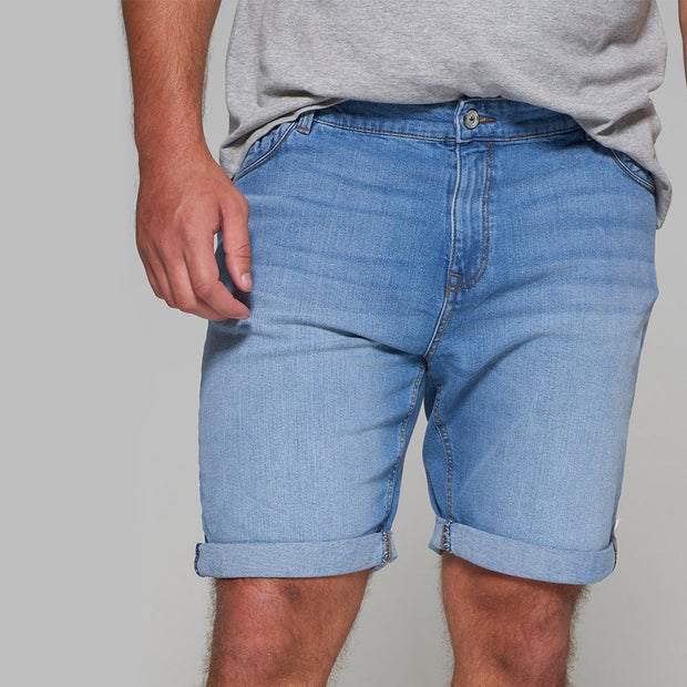 Redpoint Light Blue Denim Sherbrook Shorts - close up front view