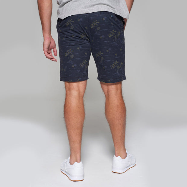 Redpoint - Surray Printed Chino Short in Navy Blue - side view