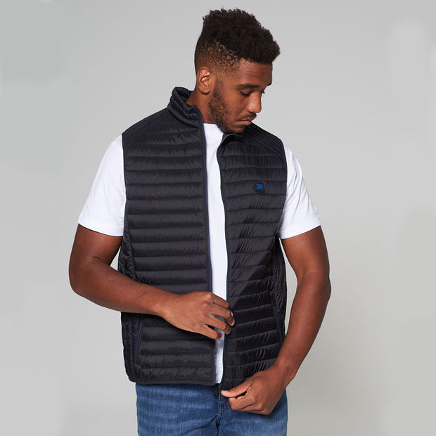 Willis Classic Quilted Gilet - Black - Full body - open front