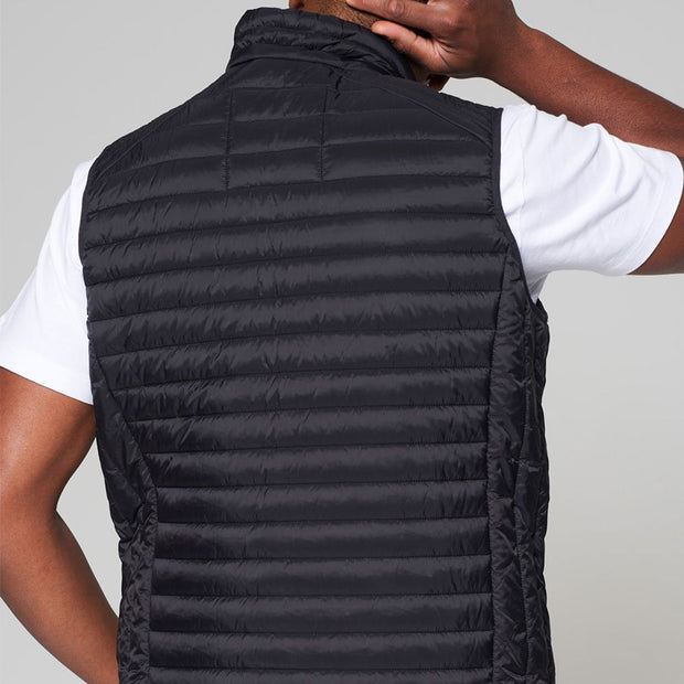 Willis Classic Quilted Gilet - Black - Full body - back