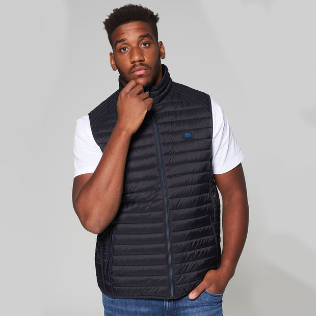 Willis Classic Quilted Gilet - Black - Full body - front