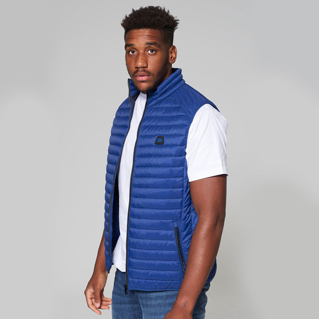 Willis Classic Quilted - Gilet - in Sapphire Blue - side view