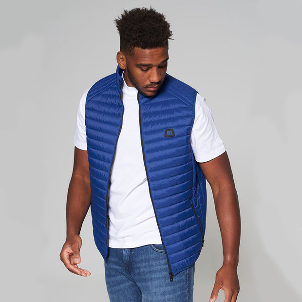 Willis Classic Quilted - Gilet - in Sapphire Blue - side angle