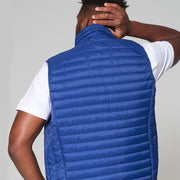 Willis Classic Quilted - Gilet - in Sapphire Blue - back view