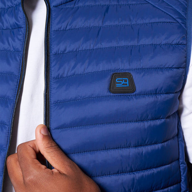 Willis Classic Quilted - Gilet - in Sapphire Blue - Close up
