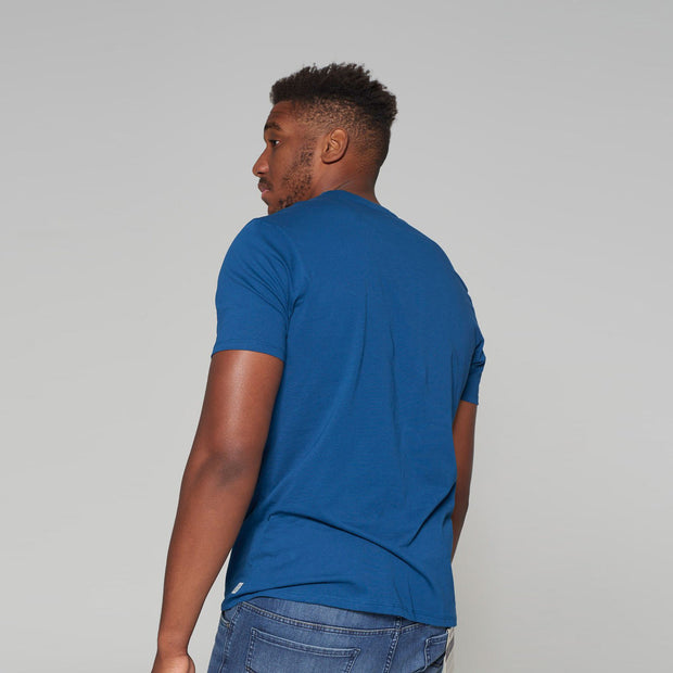 Big Mens Kitaro T-Shirt Poseidon Blue - back view