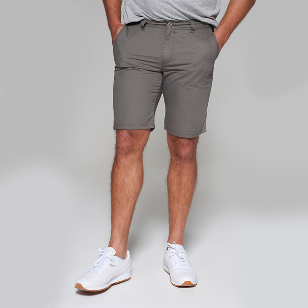 Big men's Redpoint khaki chino shorts - side