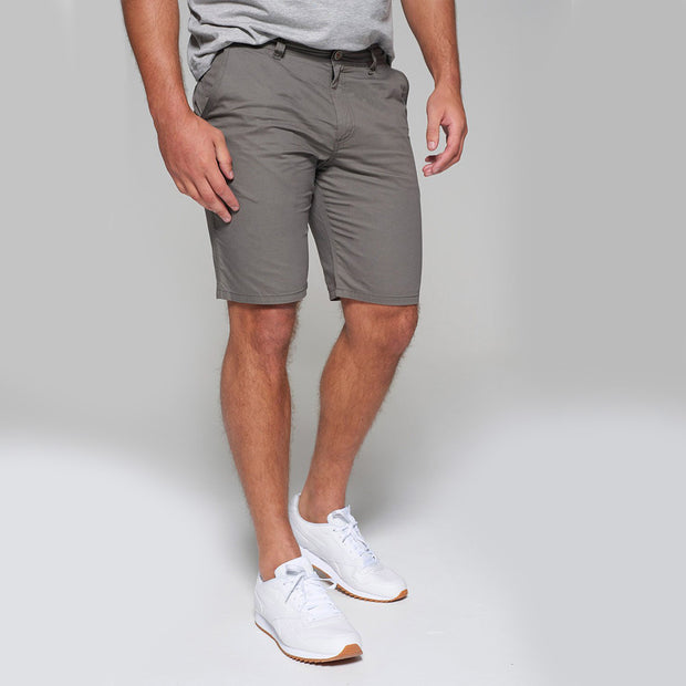 Big men's Redpoint khaki chino shorts - close up