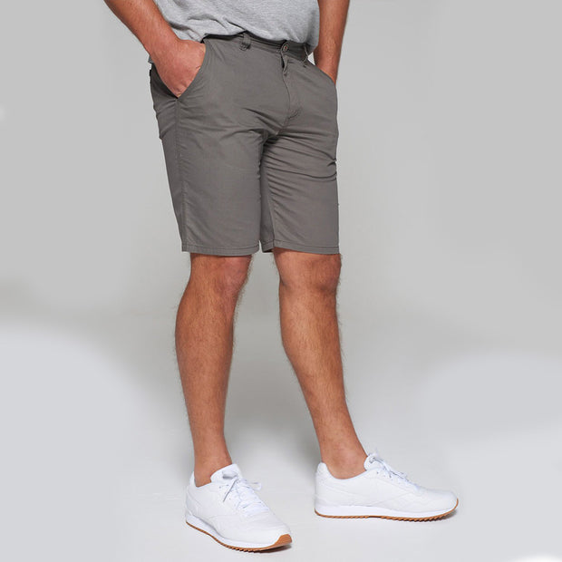 Big men's Redpoint khaki chino shorts - back view
