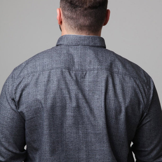 Campione - Blackstone Check Long Sleeve Shirt back view