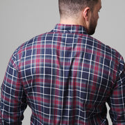 Campione - Yachting Navy Check Long Sleeve Shirt back view