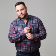 Campione - Yachting Navy Check Long Sleeve Shirt front view