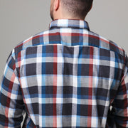 Casa Moda - Black & Orange Check Brushed Cotton Shirt - front view