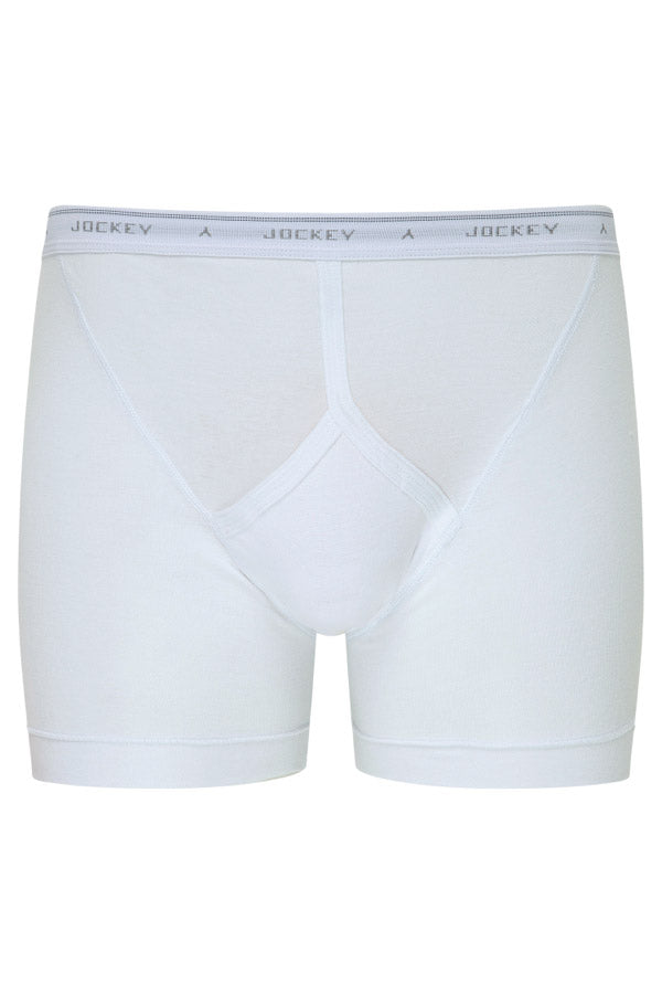 Jockey Midway Briefs in White - front view