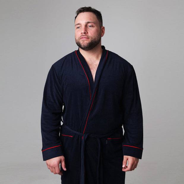 Classic Dressing Gown in Navy Blue