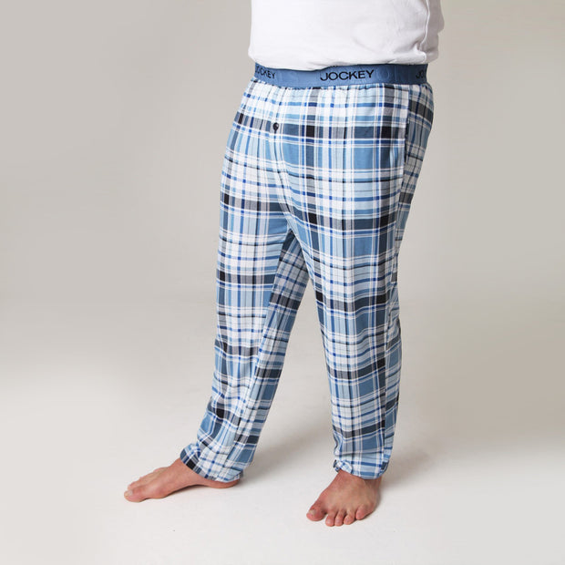 Heritage Pyjama Bottoms in Denim Blue Check