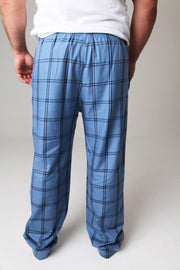 Sunday Pyjamas Bottoms in Sky Blue Check