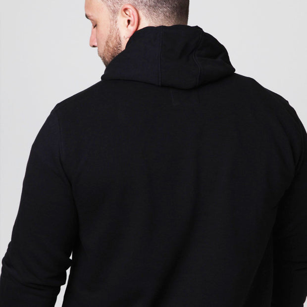 New York Boxing Hoodie in Black - back view