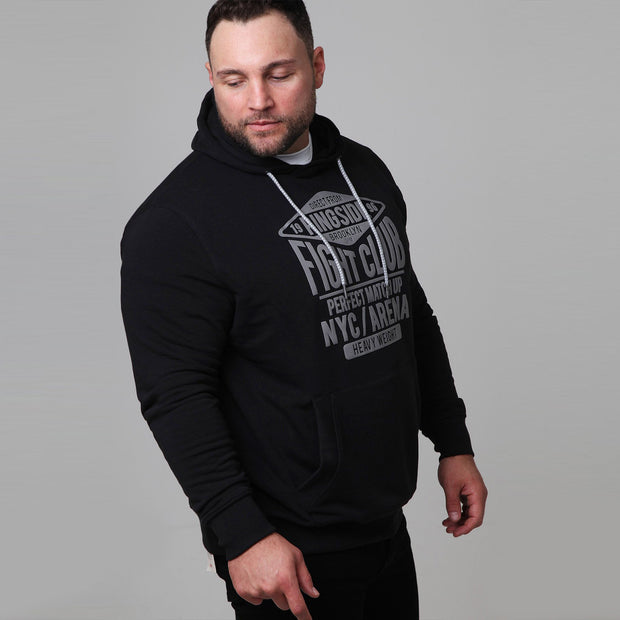 New York Boxing Hoodie in Black - side view