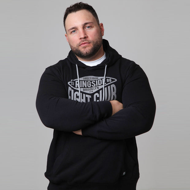 New York Boxing Hoodie in Black - front crossed arms