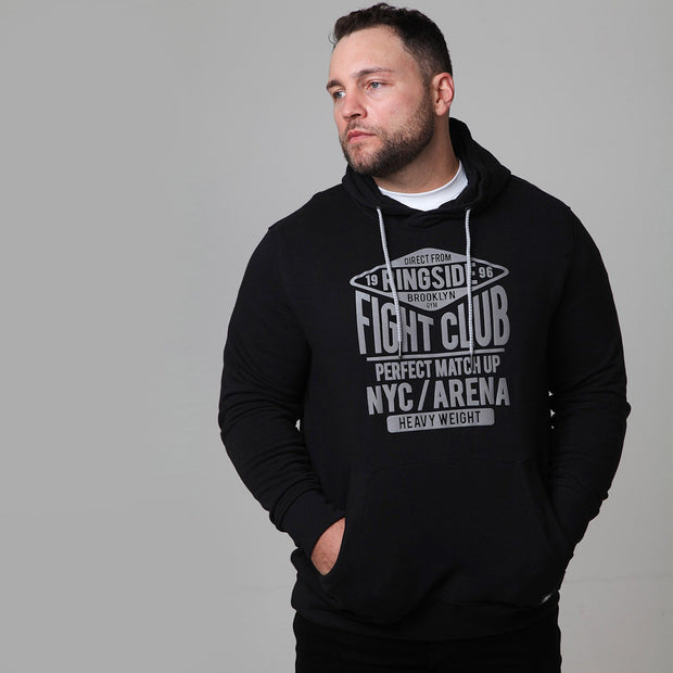 New York Boxing Hoodie in Black - close up