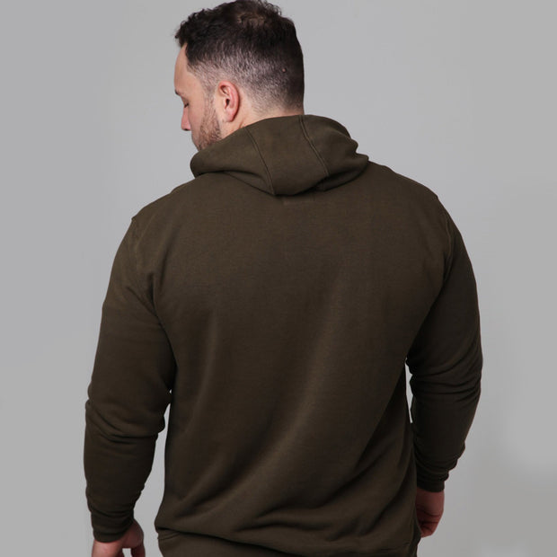 Kitaro - New York Boxing Hoodie in Olive - back view