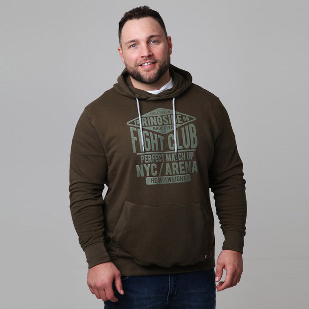 Kitaro - New York Boxing Hoodie in Olive - front view