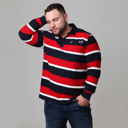 Kitaro Rugby Polo - Long Sleeve front view