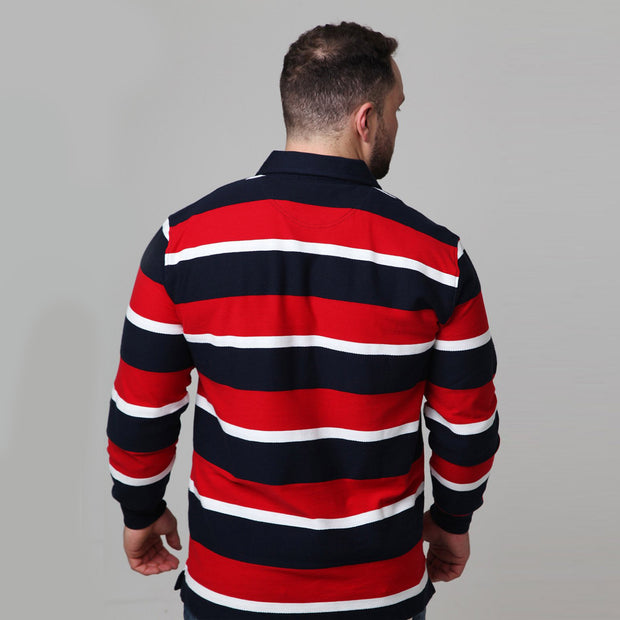 Kitaro Rugby Polo - Long Sleeve back view