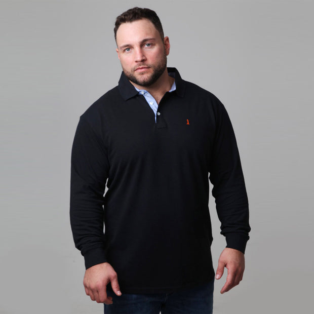 North 56°4 - Yachting Polo Long Sleeve in Black back view