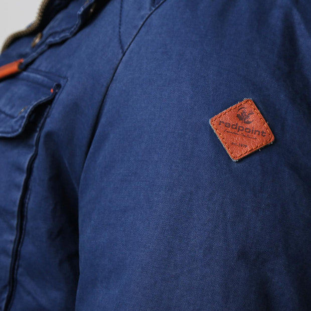 Redpoint - Karlton Jacket with Removable Hood in Navy - front view