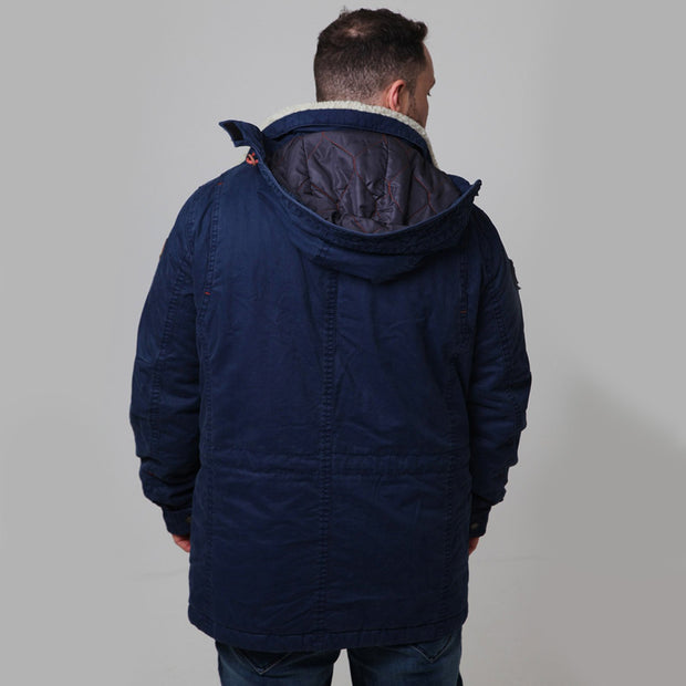 Redpoint - Karlton Jacket with Removable Hood in Navy - back view