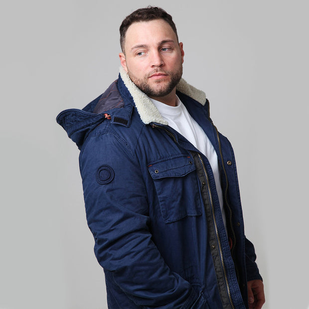 Redpoint - Karlton Jacket with Removable Hood in Navy - side view