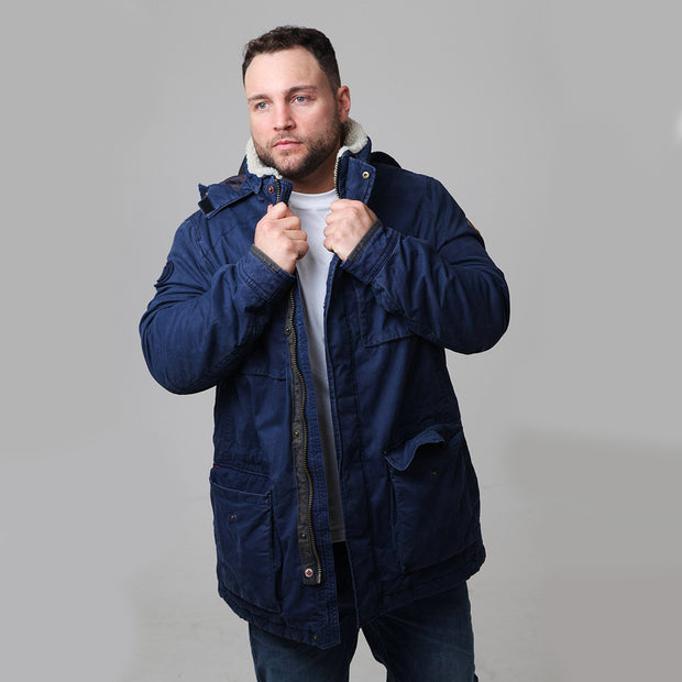 Redpoint - Karlton Jacket with Removable Hood in Navy - front view closer in
