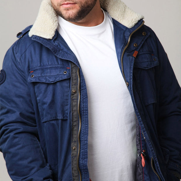Redpoint - Karlton Jacket with Removable Hood in Navy - close up view