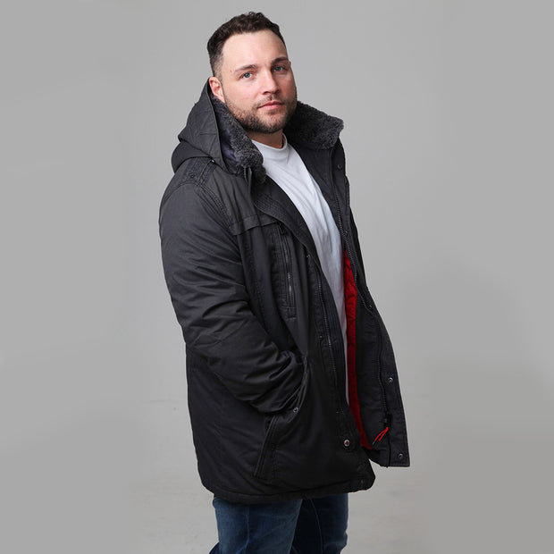 Redpoint Joshua Jacket in Black - back view