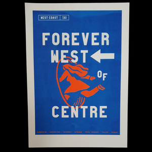 Riso Print - Forever West of Centre
