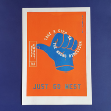 Load image into Gallery viewer, Riso Print - Just Go West