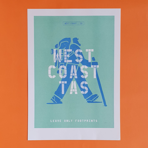 Riso Print - Leave Only Footprints